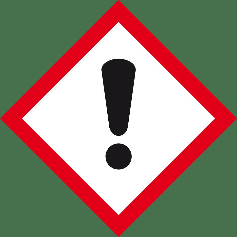 Gefahrensymbol Ausrufezeichen