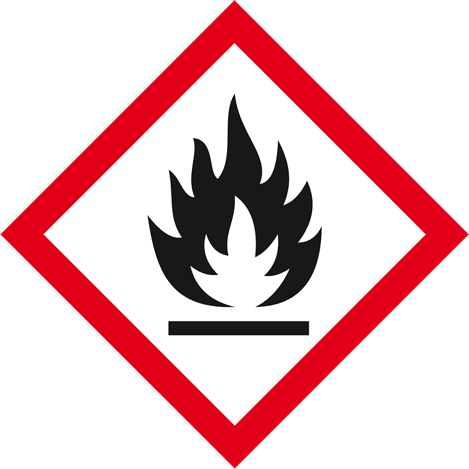 Gefahrensymbol Flamme